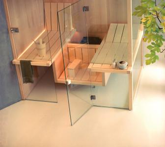 Sauna AIR 105 Corner aspen naturale