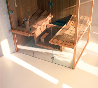 Sauna AIR 80 Corner aspen termotrattato