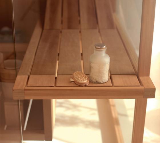 mensola esterna Sauna AIR in Aspen termotrattato