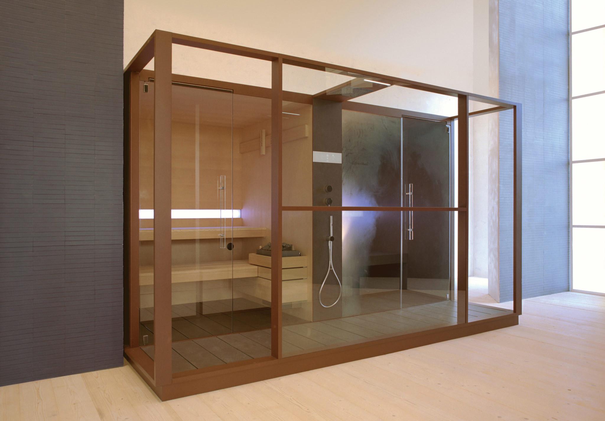 Cabine Doccia Sauna Combinate : Sistema sauna e hammam logica effegibi