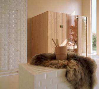 Auki Rivestimento in abete di Svezia e vetri temperati chiari 8 mm