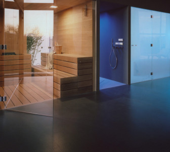 SPA zone with custom made sauna and hammam