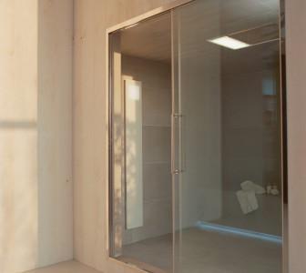 Linea Spazioslide Porta scorrevole con vetrata fissa