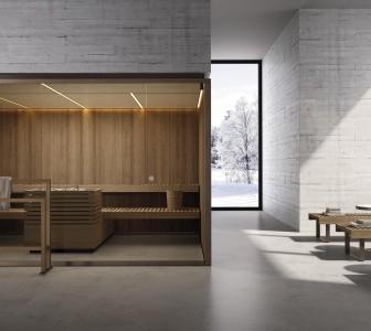 BodyLove S Sauna su misura con legno termotrattato